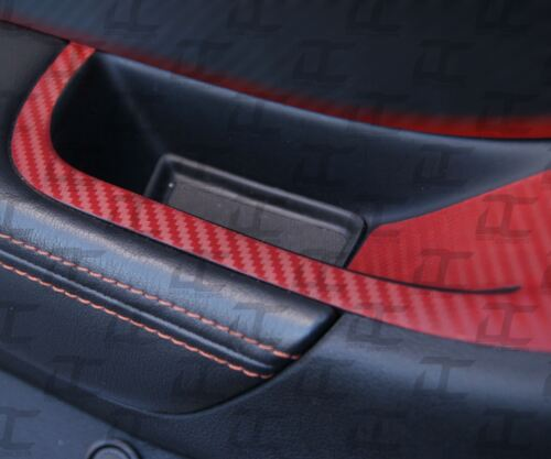 2012-2015 Camaro RED Carbon Fiber Door Switch Panel Trim Accent Decal kit 2