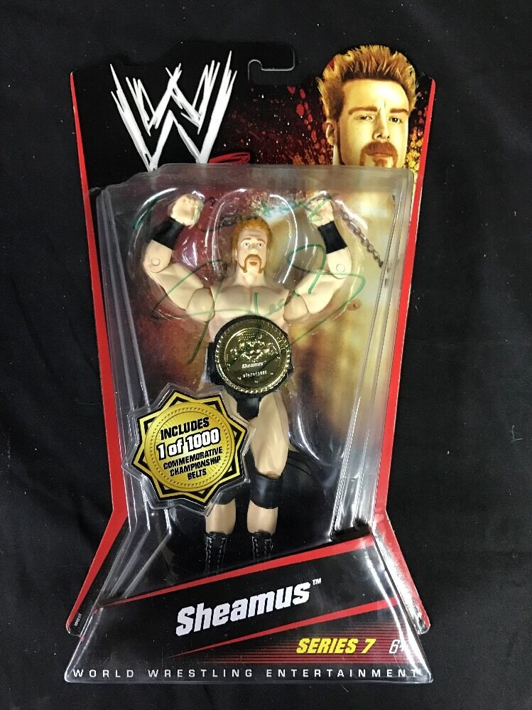 AUTOGRAPHED WWE Sheamus  Series 7  Limited Edition Figure  1000 Belt *Nuovo