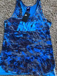 886912694366 Camiseta de 435 mujer para Medium Nike 848421 azul camuflaje qOqwTzAR