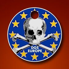 DGS Dirtbag Geocaching Society Europe Pathtag  Skull Geocoin Alt