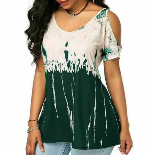 Pullover Fashion Elegant Top New Floral T-Shirt Tops Casual Womens V Neck Jumper