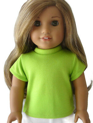 """Debs RED Long Sleeve Solid T-Shirt Top Doll Clothes For 18/"""" American Girl"""