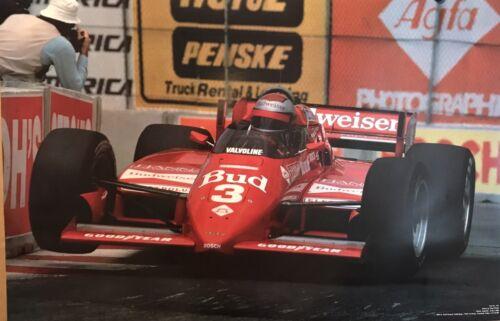 Own It Mario Andretti Stunning! Lola T-800 Racing 1984 Car Poster