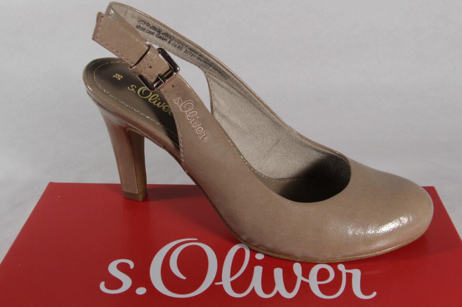 S.Oliver S.Oliver S.Oliver Sling   Sandali, Sabbia Beige, pelle Soletta Interna Nuovo c8e491