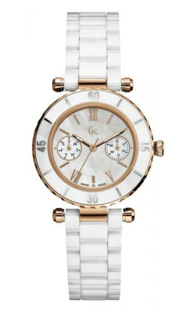 Guess GC 42004L1 WOMEN'S WATCH DIVER CHIC Analogue Multifunctional White Ceramic