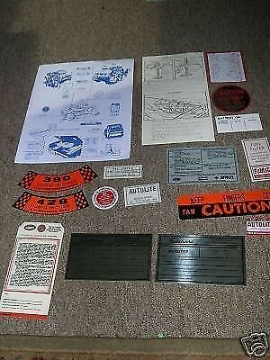 1962 Ford Thunderbird TBird T-Bird Decal Tag Resto Kit