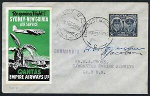 Aerophilately-Papua-New-Guinea-2-Apr-1945-AAMC-P160-Sydney-Lae-cover