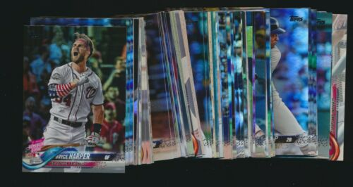 2018 Topps Update Rainbow Foil Parallel Complete Your Team Set Flat Rate SH