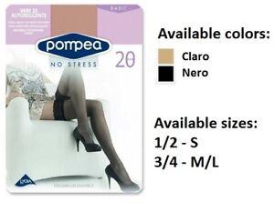 7dc6a5464 Pompea Vani 20 DEN Hold Ups Stockings Womens Sexy Elegant Silicone ...