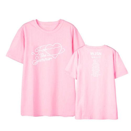 Kpop wjsn pour l/'été T-shirt style coréen Loose Tee shirts eunseo Dayoung 019
