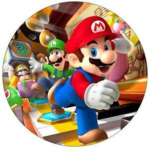 Super Mario Edible Birthday Cake Icing Sheet Topper ...