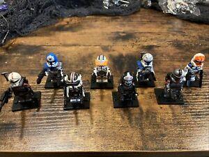lego-star-wars-minifigures-clone-custom-troopers-Lot-Of-8-Bad-Batch-Rex-Cody