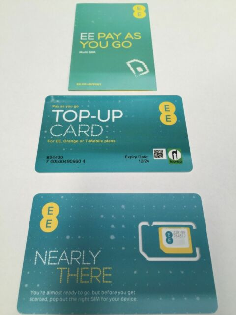 EE / ORANGE 4G Pay As You Go SIM CARD (Nano/Micro/Standard) For IPHONE, GALAXY,