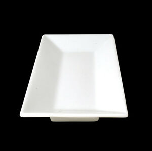 Image is loading 4x-White-Rectangular-Plate-25x14cm-Orion-Crockery-Dinner- & 4x White Rectangular Plate 25x14cm Orion Crockery Dinner Set ...
