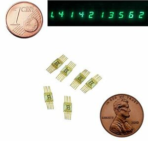 7-segment-LED-Display-Numeric-Green-Digital-Gold-pin-L104V-SEL620-Lot-of-6-pcs