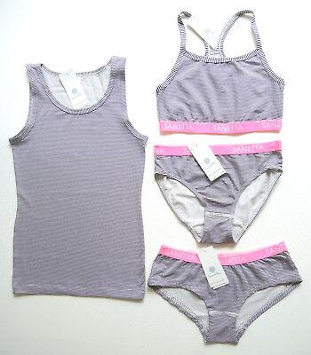 Sanetta Unterwäsche Bustier oder Panty schwarz-weiß-grau Auswahl Gr.140-176 NEU
