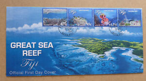 2017-FIJI-GREAT-SEA-REEF-4-STAMPS-FIRST-DAY-COVER-FDC
