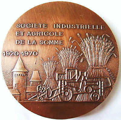 Coins & Paper Money Medals Societe Industrielle De La Somme 1920 1970 .bronze 6.7 Cm X Epais 0.5 Cm Do You Want To Buy Some Chinese Native Produce?