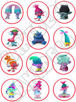 Trolls Edible Cupcake Toppers Edible Image Decoration -12x2.5