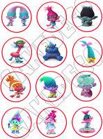 Trolls Edible Cupcake Toppers Edible Image Decoration -12x2.5