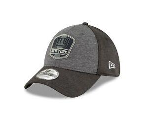 7b1504c9069 New York Giants New Era 2018 NFL Sideline 39THIRTY Flex Hat - Black ...