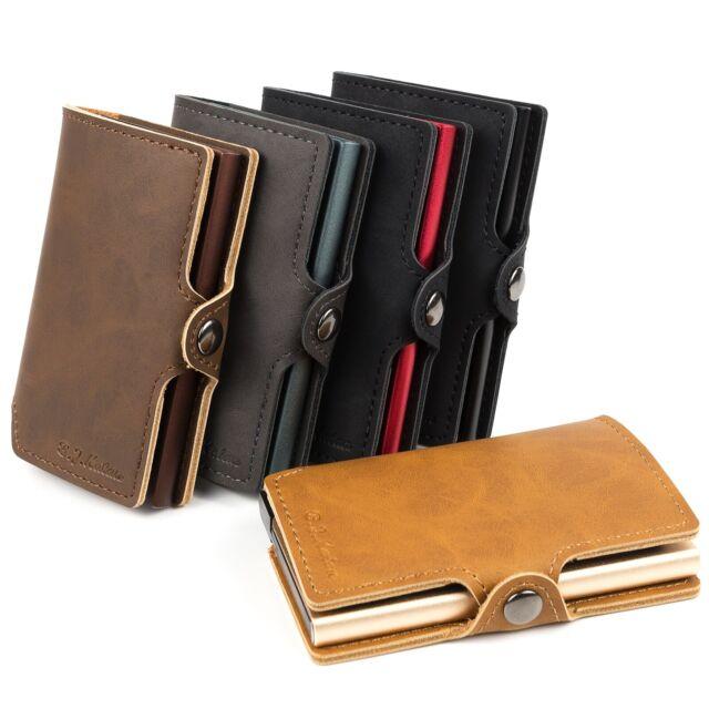Black BILLET Aluminum Credit Card Holder//Wallet RFID Protection Money Clip