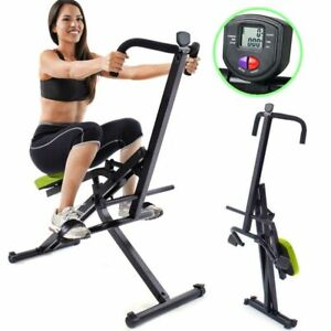 Attrezzo-Total-Fitness-Allenamento-Palestra-Cardio-Addominali-Crunch-con-Display