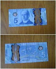 BANCONOTA BANK OF  CANADA 5 DOLLARI DOLLARS  EMISSION 2013  SUBALPINA