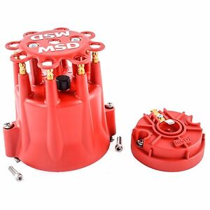 Msd 84335 Cap Amp Rotor Red Male Hei Brass Terms Clamp