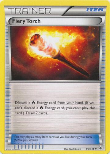 89//106 x4 Fiery Torch Uncommon Pokemon XY Flashfire M//NM English