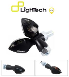 LIGHTECH-COPPIA-INDICATORI-FRECCE-ALLUMINIO-LED-FRE927NER-OMOLOGATE-MOTO