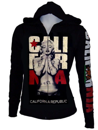 Marilyn Monroe Classy California Republic Cali Cotton Zip-Up Hoodie Sweater S