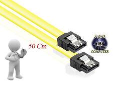 CAVO SATA III 3.0 50 cm + CLIP 6 Gb/s per HARD DISK SSD LETTORI MASTERIZZATORI