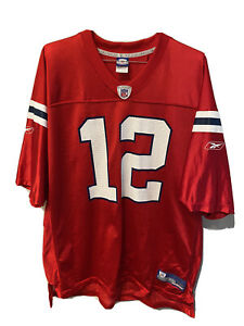 Details about Tom Brady New England Patriots NFL Throwback Red Reebok Jersey Mens XXL