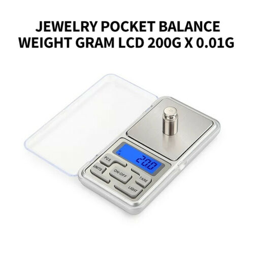 Portable Mini LCD Digital Scale Jewelry Pocket Balance Weight Gram 200gx0.01g