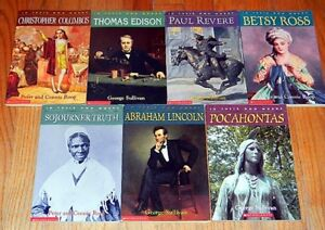 Details about NEW ~ 7 IN THEIR OWN WORDS Children BIOGRAPHY Books LINCOLN  Columbus REVERE