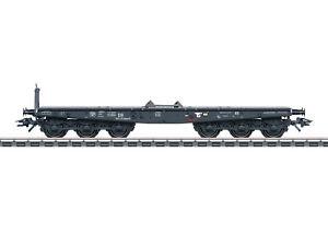 Maerklin-H0-48693-Schwerlastwagen-Bauart-SSym-46-der-DB-6-achsig-NEU-OVP