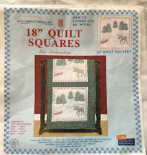FAIRWAY STAMPED FOR EMBROIDERY QUILT BABY 12 BLOCKS DUCKS ALPHABET DUCKLINGS