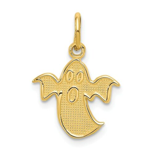 14k Ghost Charm New Pendant Yellow Gold