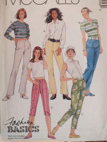 OOP McCALLS Misses Capris /& Cropped Pants or Jeans PATTERN 4-6-8//10-12-14 UC