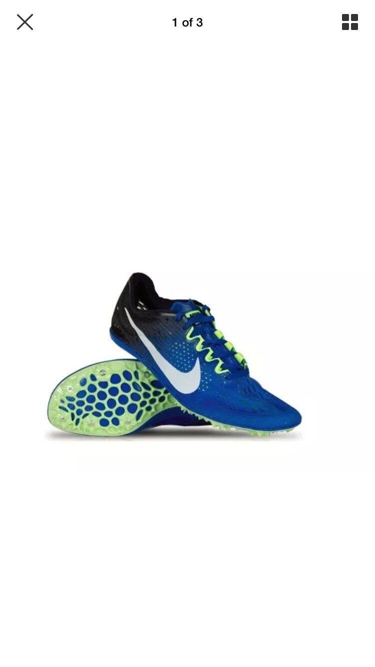 Nike Zoom Victory 3 Track Field Spikes Hyper Cobalt  835997 413 Mens Sz 12