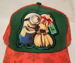 36e7baab0 Details about MINION Baseball Cap Hat New Adjustable Bananas Youth  Despicable Me NWT