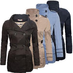 Damen Designer Jacke Wollmantel Damenmantel Grau warm Übergangsjacke D-134 NEU