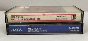 Lot-of-2-MEL-TILLIS-Cassette-Tapes-Mel-Tillis-039-Greatest-Hits-Greatest-Hits