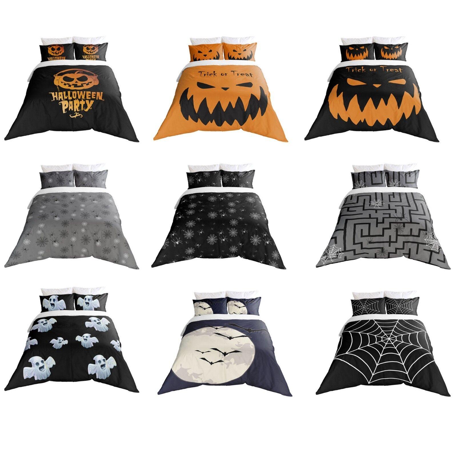 Adam Home 3D Digital Print Halloween Design Duvet Cover With Pillowcases Set