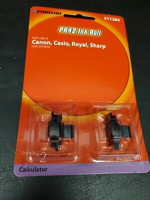 Porelon 11204 PR42 Calculator Ink Rolls 2-Pack