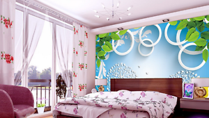 3D White Circle Tree 0876 Wall Paper Wall Print Decal Wall AJ WALLPAPER CA