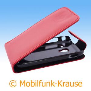 Flip-Case-Etui-Handytasche-Tasche-Hulle-f-Samsung-GT-S7500-S7500-Rot