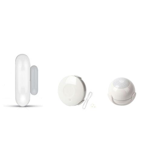 Smart Home WiFi PIR Motion Door Sensor Smoke Detector Alarm Kit TUYA APP Remote