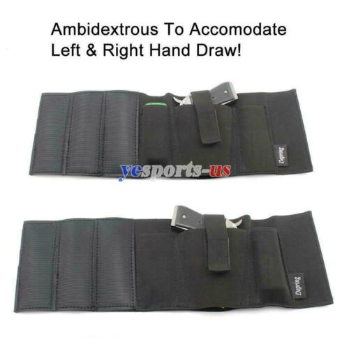 Ambidextrous Concealment Ankle Holster with 2 Mag Pouches Fits Ruger LC9 LCP